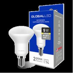 LED лампа GLOBAL R50 5W теплый свет 220V E14 (1-GBL-153)